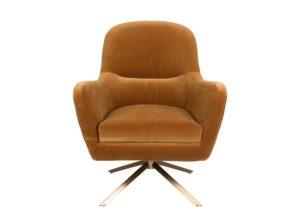 Fotel lounge Robusto musztardowy Dutchbone