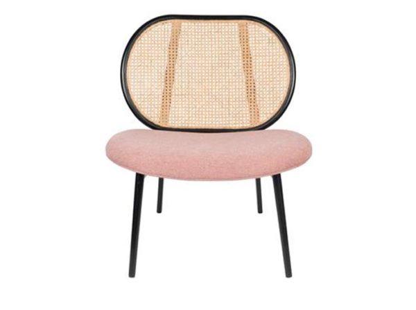 Fotel Spike naturalny/różowy Zuiver