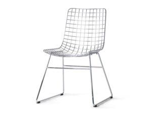 Krzesło metalowe Wire chromowane HKliving