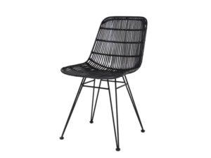 Krzesło rattanowe czarne HK Living