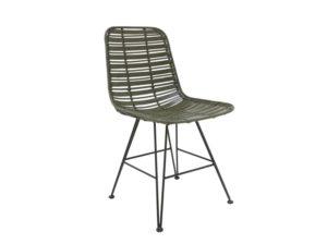 Krzesło rattanowe Hokaido oliwkowe HK Living