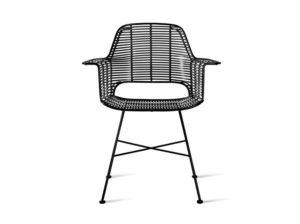 Krzesło Tub czarne outdoor HK Living