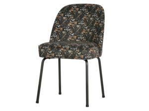 Krzesło Vogue velvet aquarel flower czarny Be Pure
