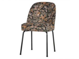 Krzesło Vogue velvet bouquet czarny Be Pure