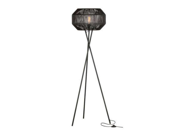 Lampa podłogowa Griffin z juty czarna Woood