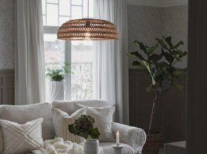 Lampa rattanowa wisząca Denise PR Home