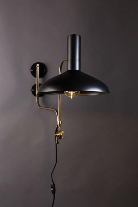 Lampa ścienna Devi czarna Dutchbone