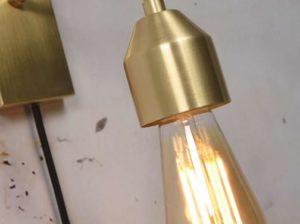 Lampa ścienna Madrid złota rozmiar S It's About RoMi