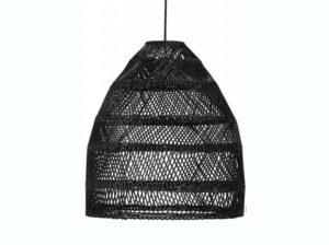 Lampa rattanowa Maja czarna PR Home