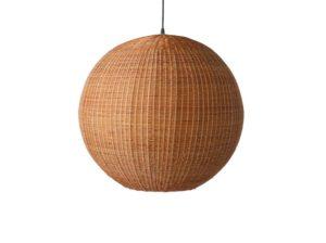 Lampa wisząca bambus papier 60cm brązowa HKliving