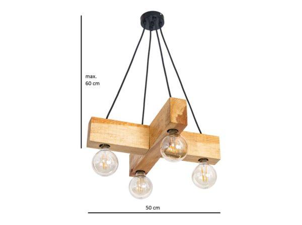 Lampa wisząca Dalwik natural Mabrillo