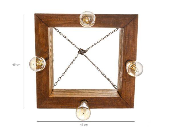 Lampa wisząca Dorie rustyk Mabrillo