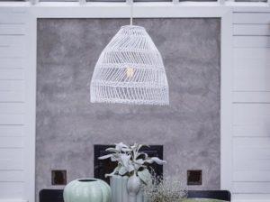Lampa rattanowa Maja biała PR Home