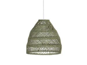 Lampa rattanowa Maja zielona PR Home