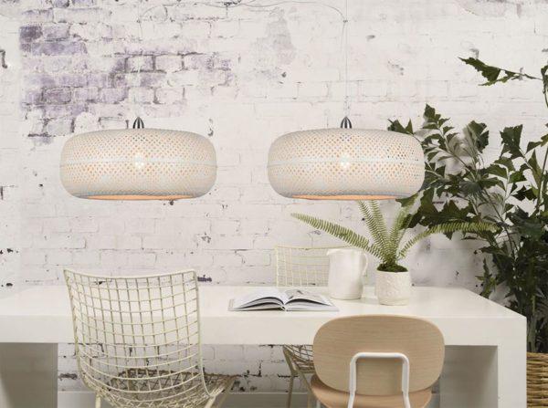 Lampa wisząca Palawan podwójna biała Good&Mojo