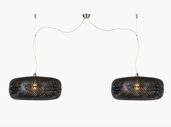 Lampa wisząca Palawan podwójna czarna Good&Mojo