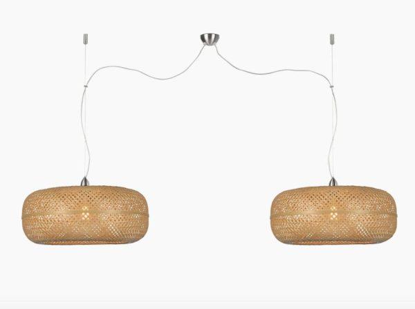 Lampa wisząca Palawan podwójna naturalna Good&Mojo