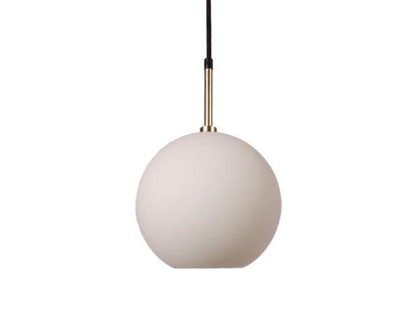 Lampa wisząca szklana kula mleczna Milla PR Home