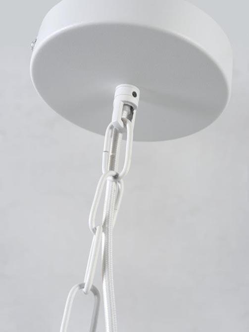 Lampa wisząca, uchwyt na rośliny Florence biała It's About RoMi