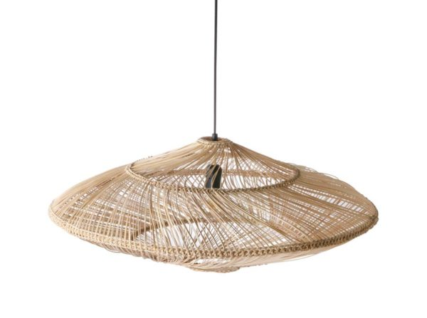 Lampa wisząca wiklinowa owalna naturalna HK Living