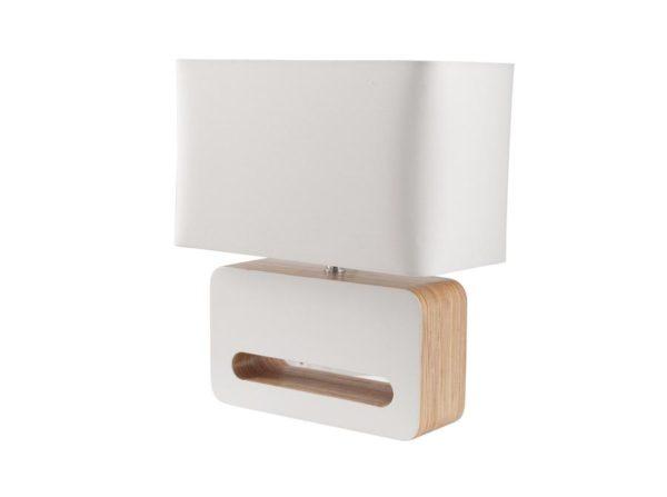 Lampa nocna Wood biała Zuiver