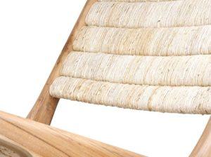 Ławka z drewna tekowego abaka HK Living