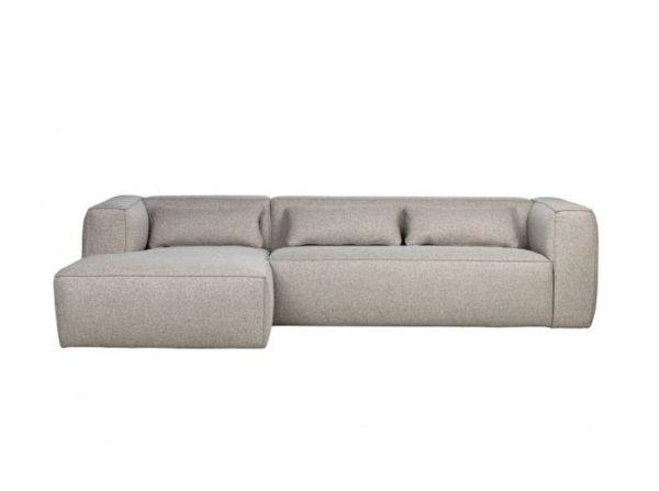 Lewa sofa Bean z poduszkami jasnoszara Woood