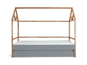 Łóżko Domek 90×200 z szufladą Lotta szare Bellamy