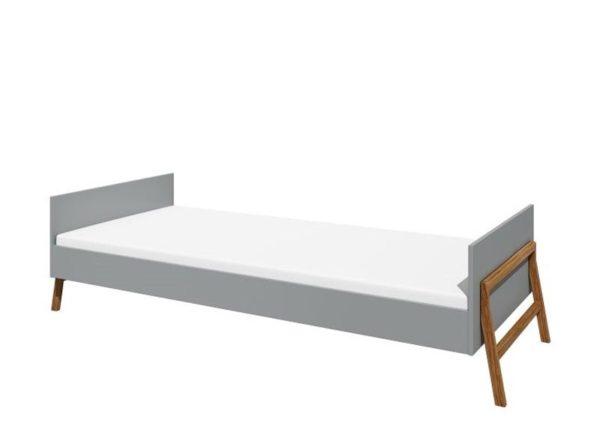Łóżko Lotta 90x200 szare Bellamy