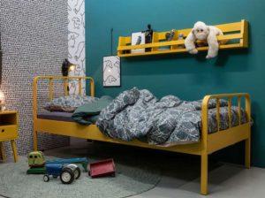 Łóżko Mees 90×200 musztardowe Woood