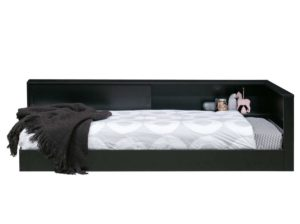 Łóżko – narożnik Connect czarne Woood
