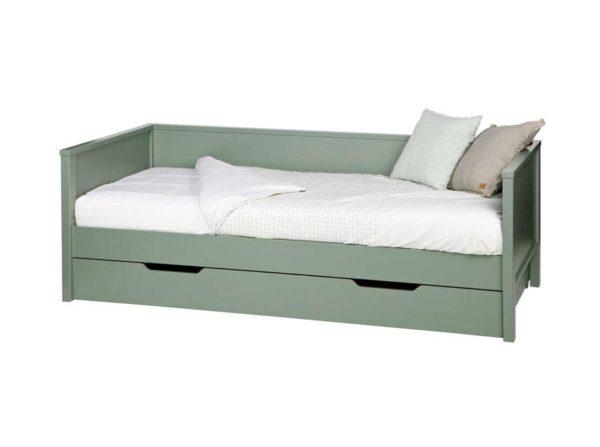 Łóżko z oparciem Nikki oliwkowe Woood