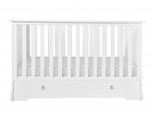 Łóżeczko dziecięce 140x70 w stylu retro w kolorze białym. Retro Novelies