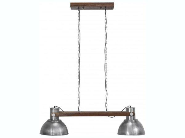 Podwójna lampa wisząca Ashby srebrna PR Home