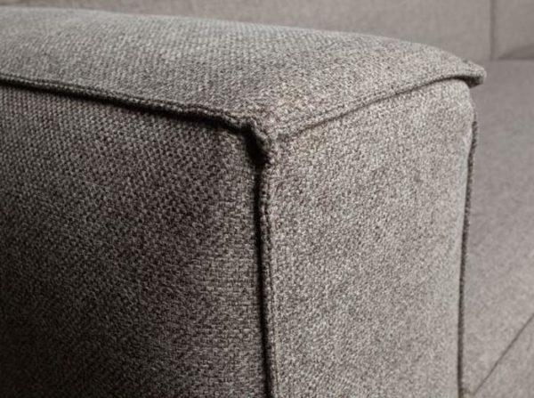 Sofa 3,5-osobowa Bean z poduszkami jasnoszara Woood