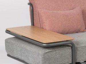 Sofa Star różowy/szary Zuiver