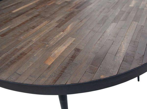 Stół okrągły Vic drewno/metal Woood