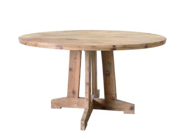 Stół okrągły z drewna tekowego HK Living