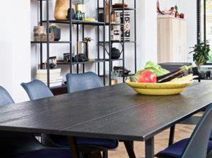 Stół Silas dębowy czarny Woood