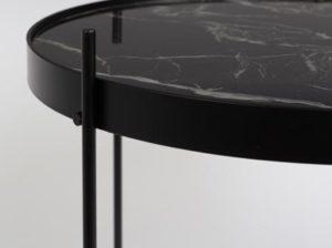 Stolik kawowy Cupid czarny marmur Zuiver