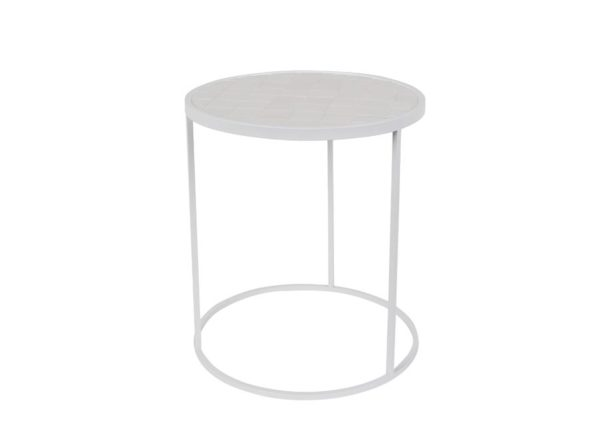 Stolik Glazed biały Zuiver
