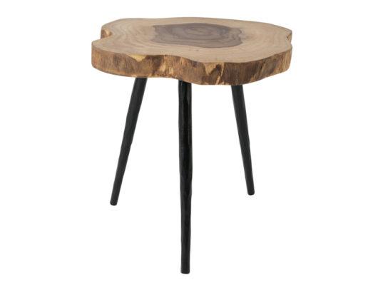 stolik z blatem z pnia drewna. Oryginalny stolik do salonu