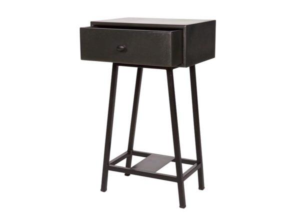 Stolik z szufladą Skybox czarny Be Pure