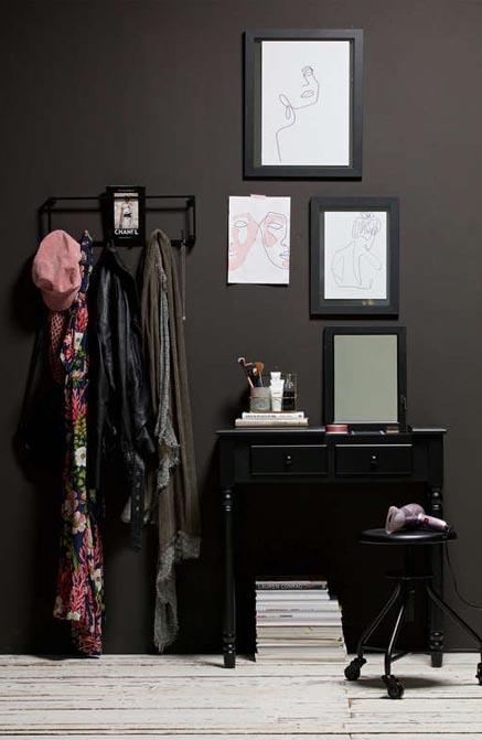 Toaletka Romy drewniana czarna Woood