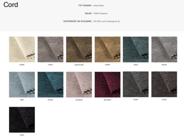 Wzornik materiałów Cord 366 Concept