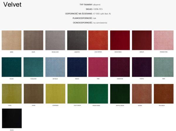 Wzornik materiałów Velvet 366 Concept