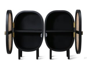 Zestaw dwóch szafek nocnych czarnych HK Living