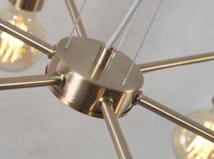 Żyrandol żelazny Cannes 6-ramienny złoty It's About RoMi